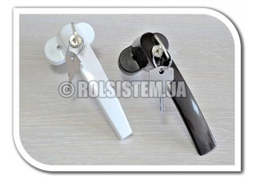 Ручка оконная с кнопкой и ключом